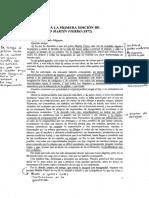 Prólogo a la primera edición de el gaucho Martín Fierro