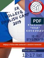 Oferta Winter Volley and English Camp 2019 Grudziądz