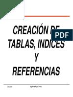 2018 02 20 BD Creación Tablas e Indices