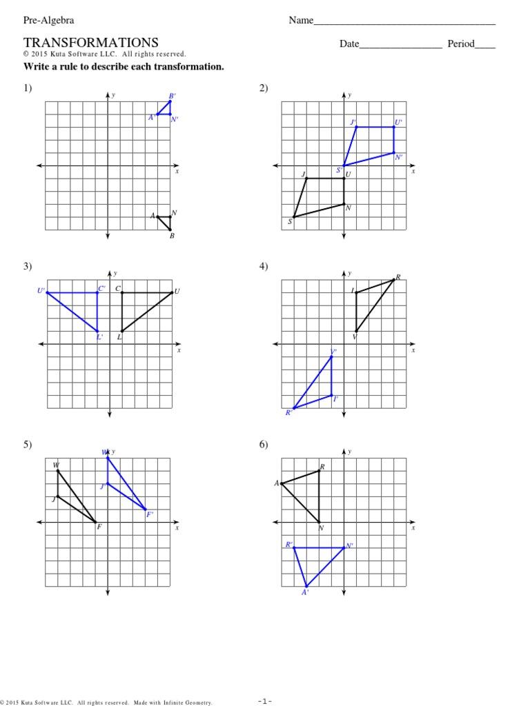 Worksheet Quadratic Transformations Kuta Software Answers
