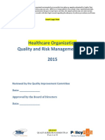 Quality and Risk Mgmt Plan Sample