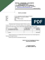 Nota Dinas PPTK Dan Ka FKTP