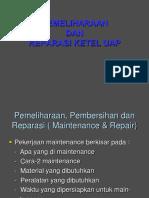 8.Pemeliharaan Dan Reparasi Ketel Uap