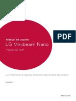 Proyector LG Minibeam Nano