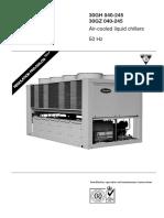 Carrier Air Cooled Liquid Chillers 30GH GZ Series Datasheet