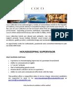 Job Advert - 22.10.2018 HK Supervisor