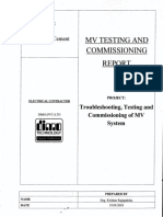 MV Testing and Commissioning Report