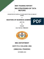 Prikshit Report of Marketing Strategies of TATAmotors