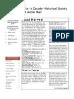 Morris County Historical Society Winter Newsletter 2009