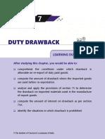 Duty Drawback Hand BOOK 2018