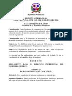 Decreto 511-86 Del Ejercicio Profesional de Los Ingenieros Quimicos