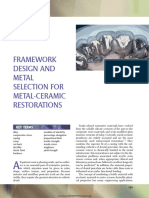 19 Framework Design and Metal Selection for Metal-ceramic Restorationsmic
