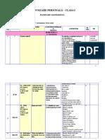 Planificare Dezvoltare Personala Clasa 1 Aramis