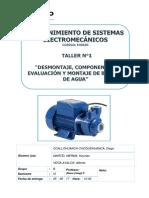INFORME DEL TALLER N°1MMTO DE ELECTROMECANICO