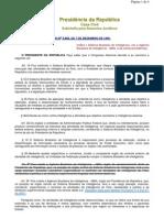 Legislação da ABIN - 2010