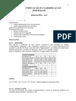 identificação e classificação dos solos
