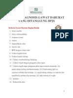 Daftar Diagnosis Gawat Darurat Yang Ditanggung Bpjs