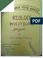 Biology Investigatory Project File _DNA Fingerprinting