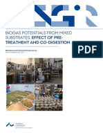 Biogas Potentials From Mixed Substrates - Effect of Pre-Treatment and Co-Digestion