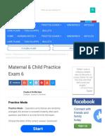 Maternal & Child Practice Exam 6 -