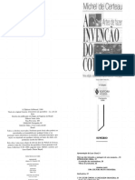 123818658 a Invencao Do Cotidiano Artes de Fazer Michel de Certeau PDF