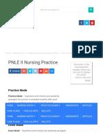 PNLE II Nursing Practice -