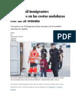 Más de Mil Inmigrantes Rescatados en Las Costas Andaluzas Este Fin de Semana