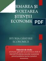 Tema 1 Formarea Si Dezvoltarea Stiintei Economice