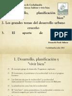 """Desarrollo, Planificación y """"vivir bien"""" 2011- Fernando Prado salmon"""