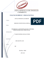 Resumen de Ladescentralización y Reforma Constitucional en El Perú Actual