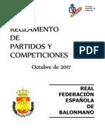REGLAMENTO PARTIDOS Y COMPETICIONES RFEBM