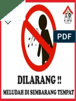 Stiker Dilarang Meludah