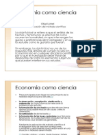Economía como ciencia