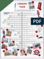 London Tour Crossword Puzzle Crosswords Icebreakers Oneonone Activities 32953