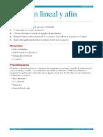 Función Lineal y Afín
