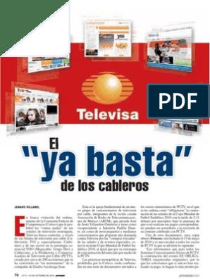 El De Los Cableros Ya Basta Univision Televisión