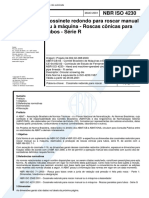 NBR 04230 - Cossinete Redondo Para Roscar Manual Ou a Maquina - Roscas Conicas Para Tubos - Serie R