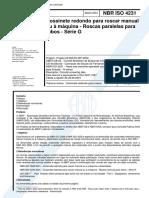 NBR 04231 - Cossinete redondo para roscar manual ou a maquina - Roscas paralelas para tubos - Serie G.pdf