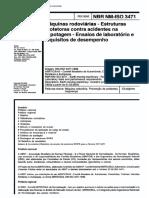 NBR 03471 - Maquinas rodoviarias - Estruturas protetoras contra acidentes na capotagem - Ensaios de laboratorio e requisitos de desempenho.pdf