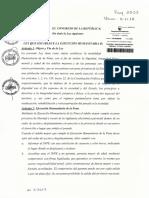 La autógrafa de la ley que beneficiaría a Alberto Fujimori