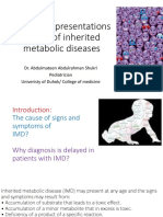 The Many Presentations of Inherited Metabolic Diseases