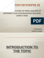 comparative stdy of wind analysis of different plan configuration building using ETabs