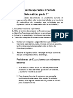 Recuperación de Matemáticas 3 Periodo