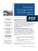 October 2010 IT Activity and Status Report