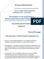 Evaluation of the Environmental Governance Programme