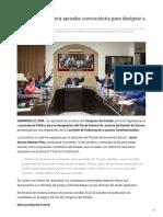 Congreso de Sonora aprueba convocatoria para designar a nuevo Fiscal