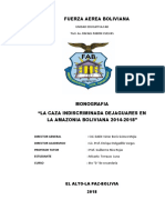CAZA INDISCRMINADA DE JAGUARES EN BOLIVIA