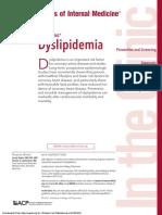 Dislipidemia ACP 2017