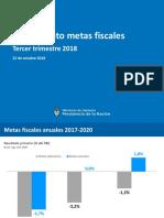 Metas fiscales del tercer trimestre de 2018