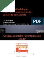 History of Philosophical Models - Research Methodologies